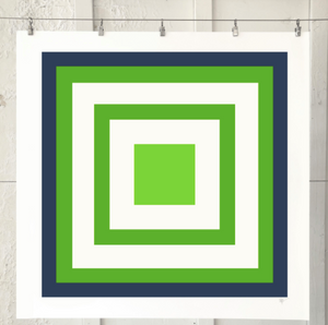SQUARE MAZE Navy Lime Kelly