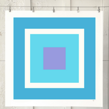 Load image into Gallery viewer, SQUARE Aqua White Wisteria