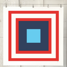 Load image into Gallery viewer, SQUARES Double Red Navy