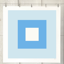 Load image into Gallery viewer, SQUARES Morning Blue 1