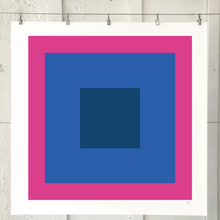 Load image into Gallery viewer, SQUARES Pink Navy