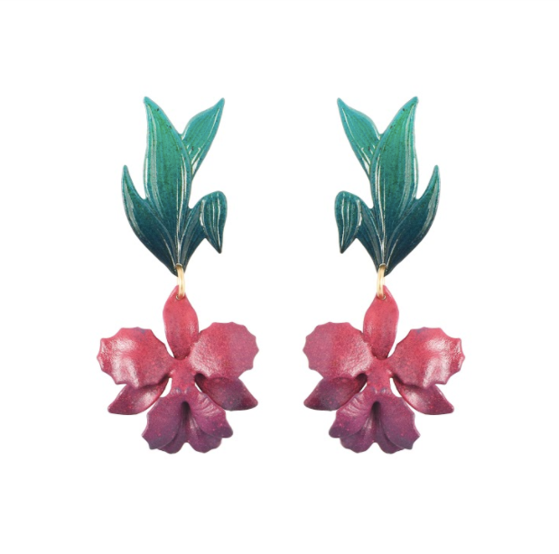Laila Orchid Earrings