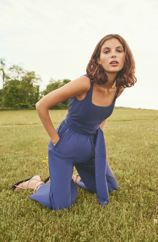 Innisfree Jumpsuit with Sash, Navy