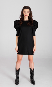 Irina Wool Puff Sleeve Dress