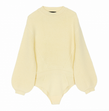 Load image into Gallery viewer, Dune Cashmere Bodysuit Sunshine Yellow