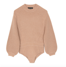 Load image into Gallery viewer, Dune Cashmere Bodysuit Camel Sand