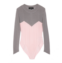 Load image into Gallery viewer, Lily Lightweight Bodysuit Desert Pink/ Dusky Grey