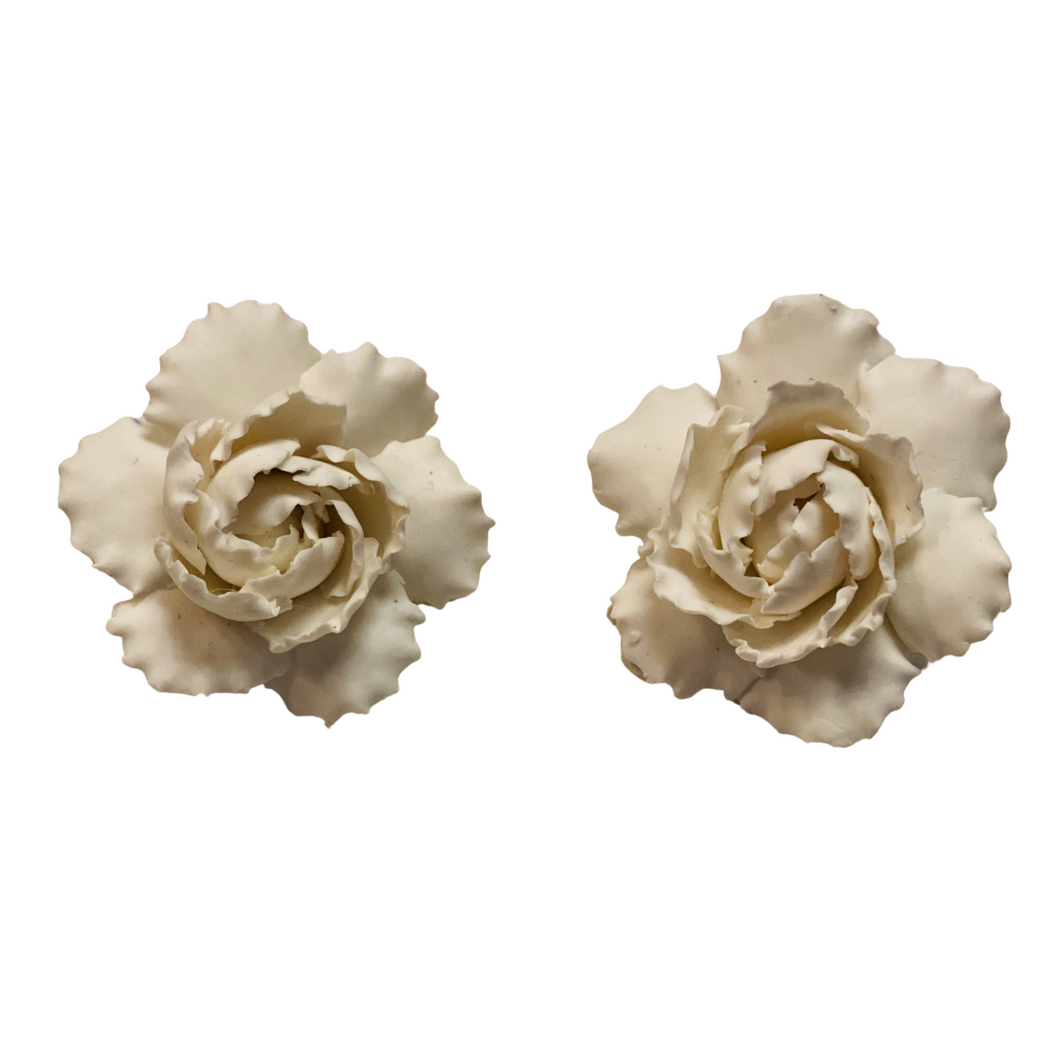 Hand Sculpted Gardenia Earring