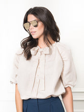 Load image into Gallery viewer, The Antoinette Shirt, Beige Stripe