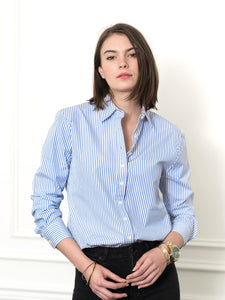 The Boyfriend Shirt, Blue/White Stripe