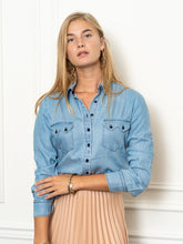 Load image into Gallery viewer, The Cowgirl Shirt, Denim