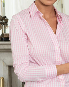 The Icon Shirt in Large Check, Pink/White Check