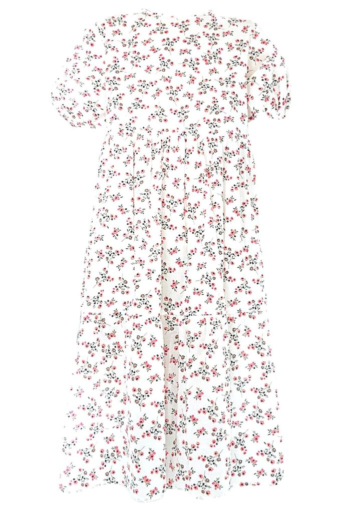 Cotton Madeline Dress, Micro Floral