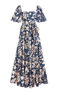 Wethersfield Dress, Jacobean Blue