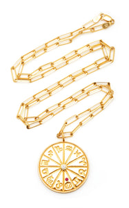 18k Yellow Gold Large Zodiac Necklace
