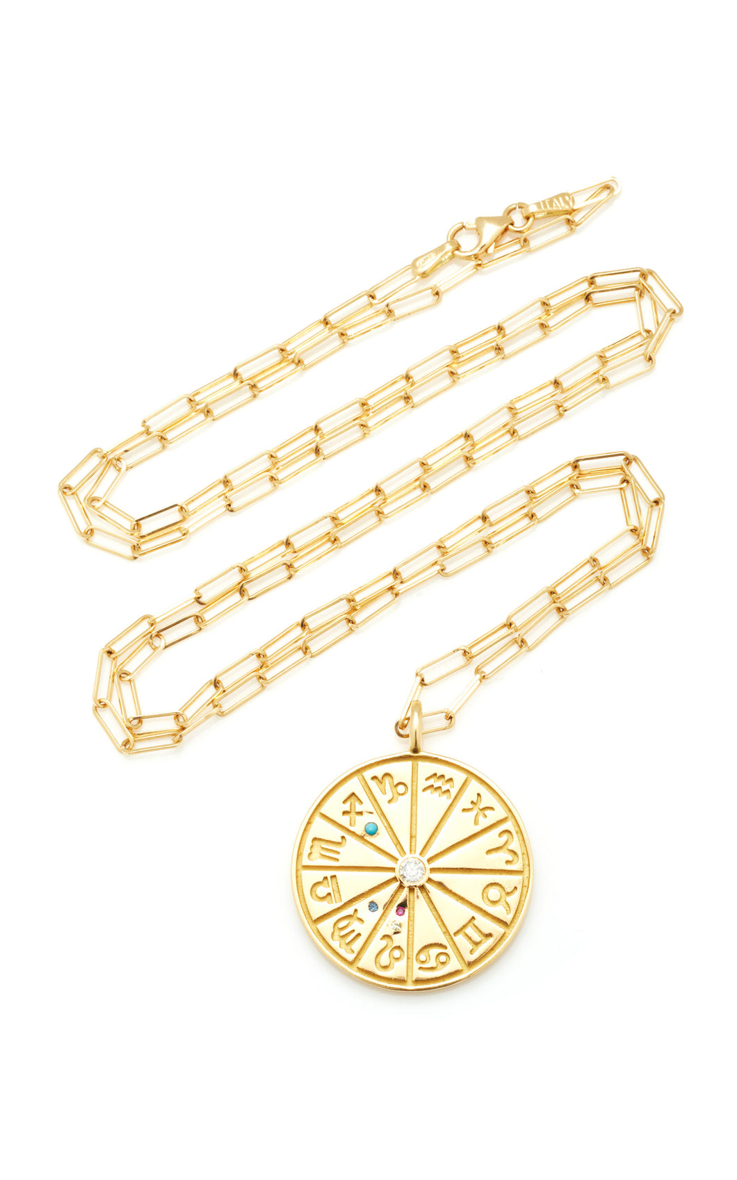18k Yellow Gold Medium Zodiac Necklace