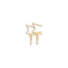 Load image into Gallery viewer, Shooting Star Diamond Hoops