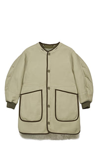 Reversible Shearling Coat, Jade Green