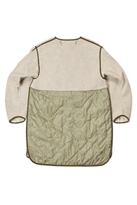 The Reversible Shearling Combo Quilt, Natural/ Sage