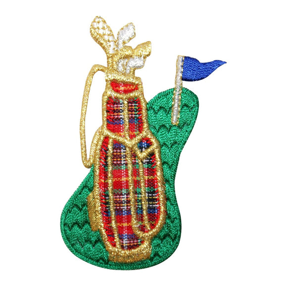 ID 1515 Golf Club Bag Fairway Patch Hole Flag Sport Embroidered Iron On Applique