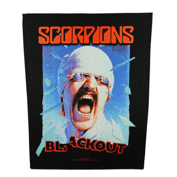 XLG Scorpions Blackout Patch American Heavy Glam Metal Rock Band Sew On Applique