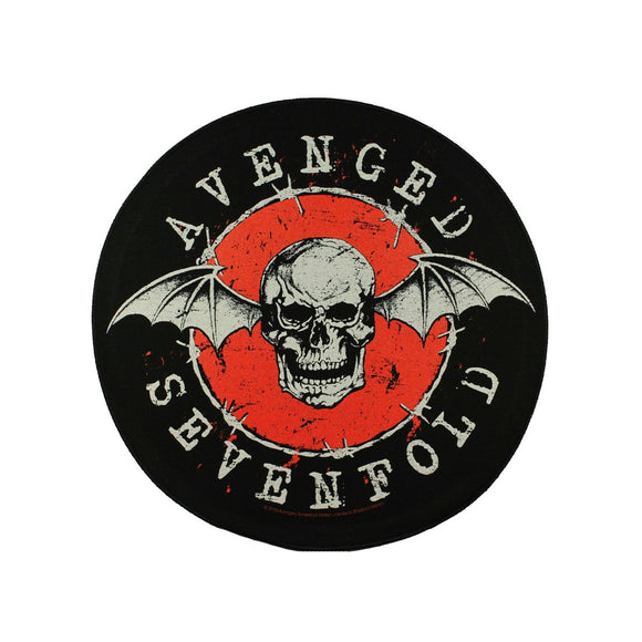 XLG Avenged Sevenfold Distressed Bat Metal Rock Band Woven Back Patch Applique