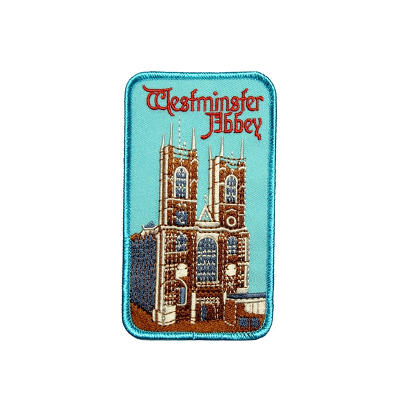 Westminster Abbey London England Patch Travel Badge Embroidered Iron On Applique