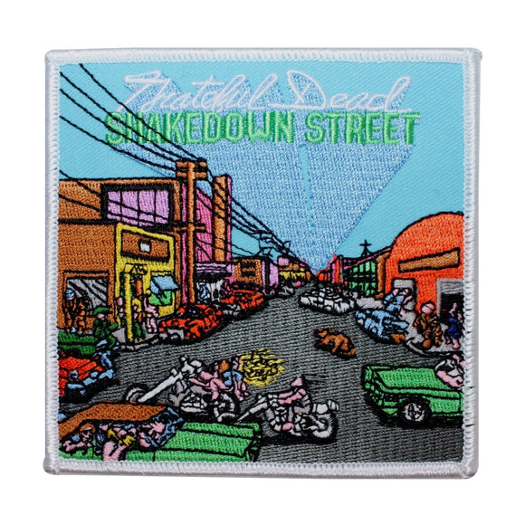 Grateful Dead Shakedown Street Album Cover Rock Band Iron On Applique Patch