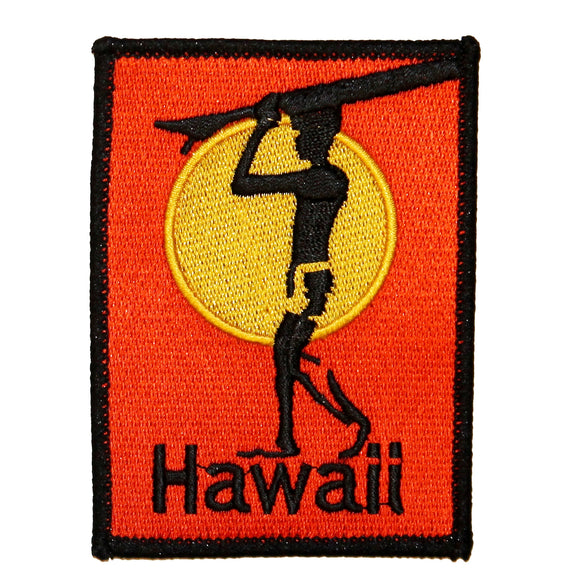 Hawaii Surfboard Patch Beach Bum Wave Rider Embroidered Sew On Applique