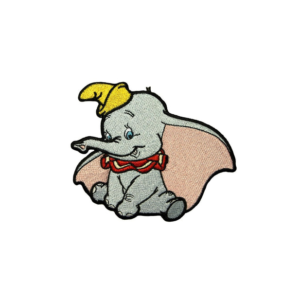 Dumbo Patch Flying Circus Elephant Disney Movie Character Craft Iron-On Applique