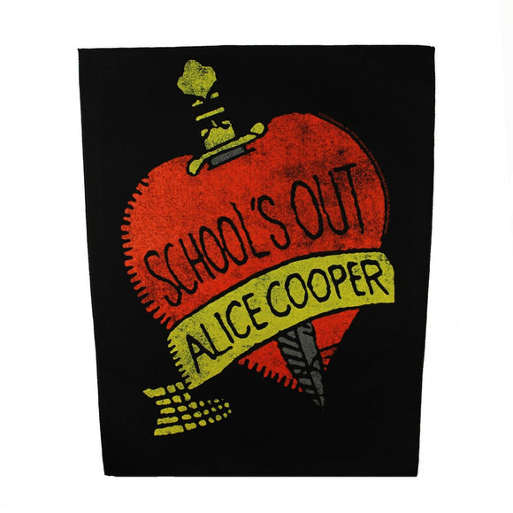 XLG Alice Cooper School's Out Back Patch Band Album Heavy Metal Sew On Applique
