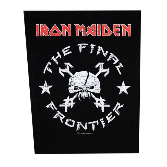 XLG Iron Maiden Final Frontier Vintage Skull Back Patch Jacket Sew On Applique