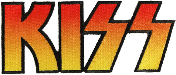KISS Band Logo Patch Hard Rock Merchandise Glam Metal Music Iron On Applique