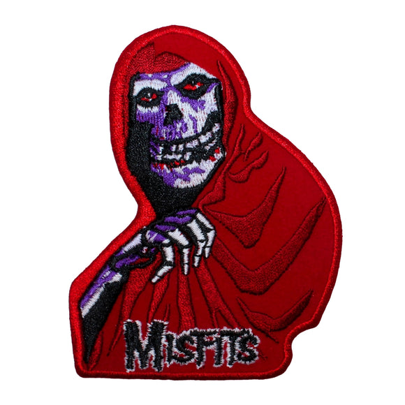 Misfits Red Fiend Logo Patch Punk Rock Music Band Embroidered Iron On Applique