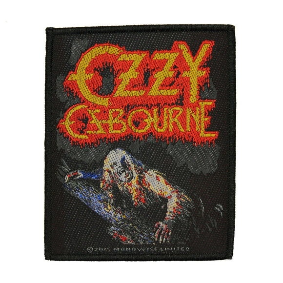 Ozzy Osbourne Bark At The Moon Patch Heavy Metal Band Woven Sew On Applique