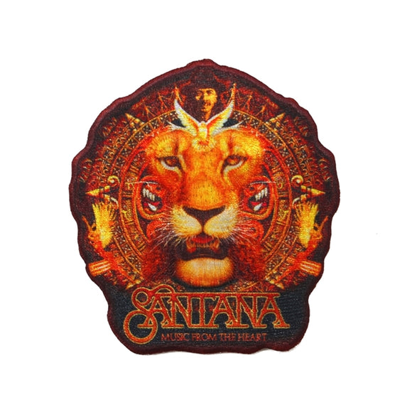 Santana Music From the Heart Patch Lion Latin Rock Blues Band Iron On Applique