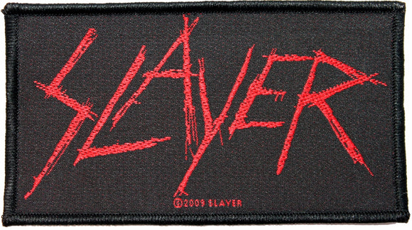 Slayer Scratched Logo Patch Blood Thrash Metal Music Band Woven Sew On Applique