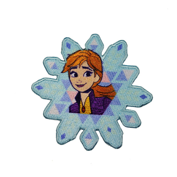 Princess Anna Snowflake Patch Disney Frozen 2 Movie Character Iron On Applique