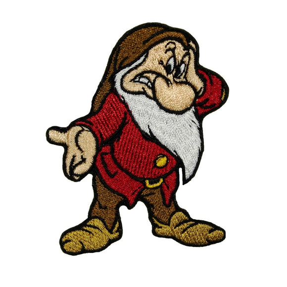 Dwarf Grumpy Patch Disney Fan Snow White Mad Cartoon Apparel Iron On Applique