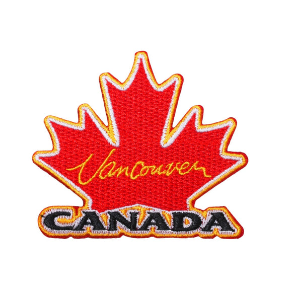 Canada Vancouver Maple Leaf Patch Travel City Badge Embroidered Iron On Applique