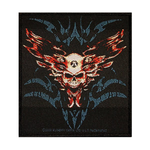 Black Magistain Spectre Skull Patch Spirit Alchemy Carta Woven Sew On Applique