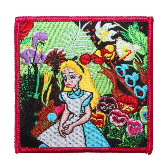 Alice in Wonderland Lost in the Garden Patch Disney Cartoon Iron-On Applique