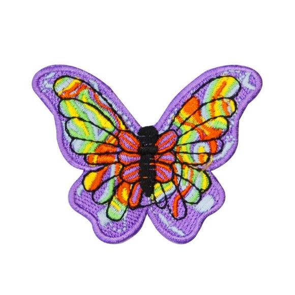 Tie Dye Butterfly Patch Colorful Hippie Bug Craft Embroidered Iron On Applique