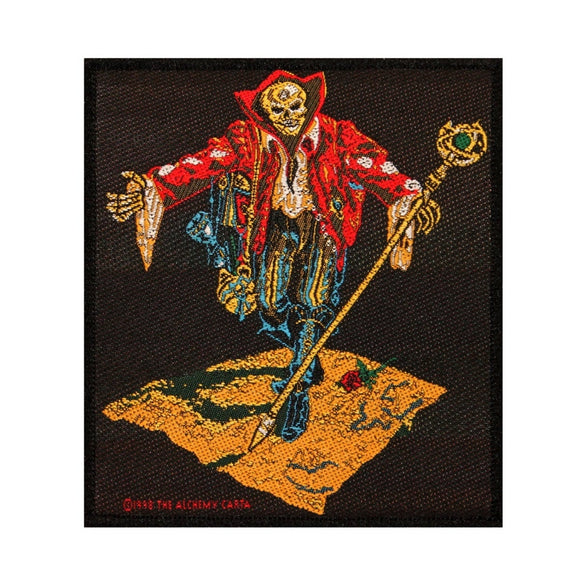 Wandering Skeleton Skull Merchant of Death Alchemy Carta Sew On Applique Patch