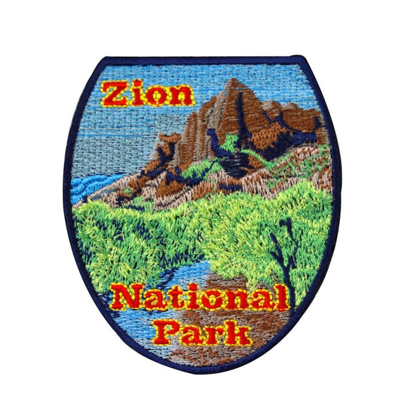 Zion National Park Patch Travel Utah Hike Canyon Embroidered Iron On Applique