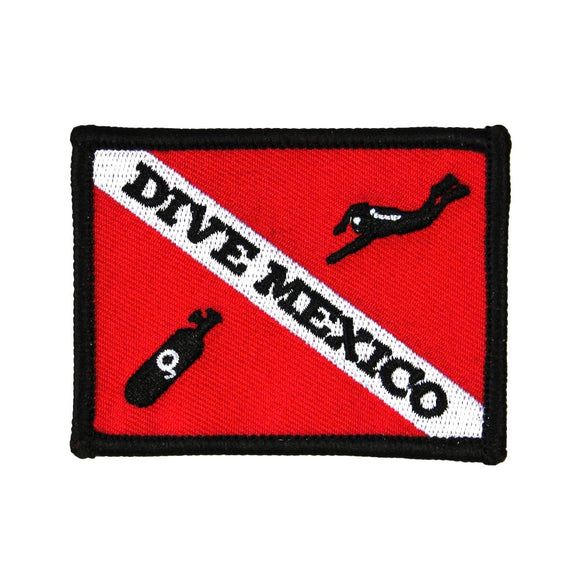 Dive Mexico Patch Scuba Souvenir Travel Sport Embroidered Iron On Applique