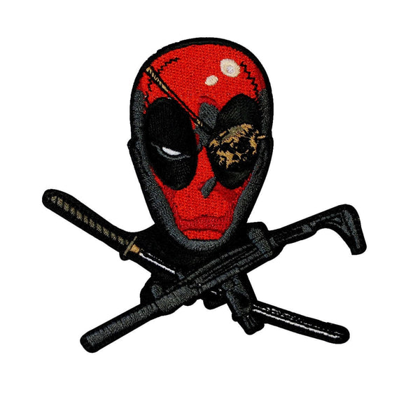 Deadpool Mercenary Jolly Roger Patch Marvel Comics Disney Hero Iron On Applique