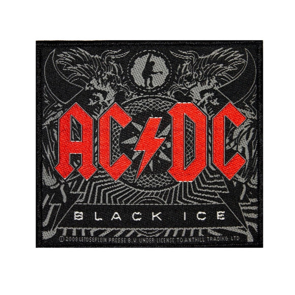 AC/DC ACDC Black Ice Album Cover Art Patch Hard Rock Music Woven Sew On Applique