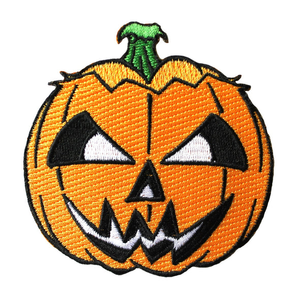 Scary Jack-O-Lantern Patch Kreepsville Halloween Pumpkin Craft Iron-On Applique