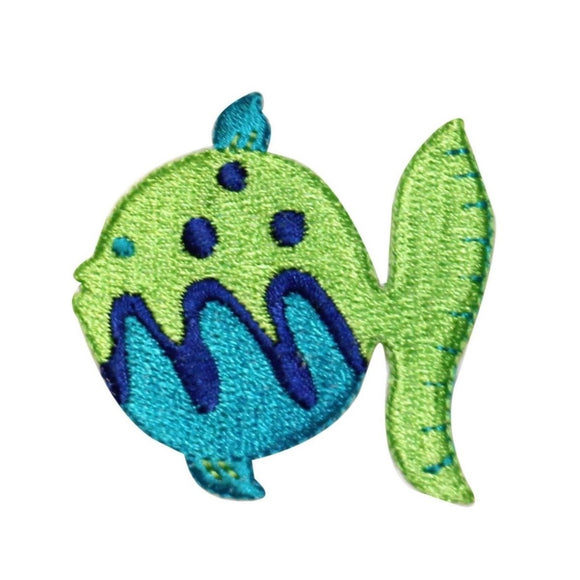 ID 0188 Tropical Fish Patch Ocean Fishing Colorful Embroidered Iron On Applique